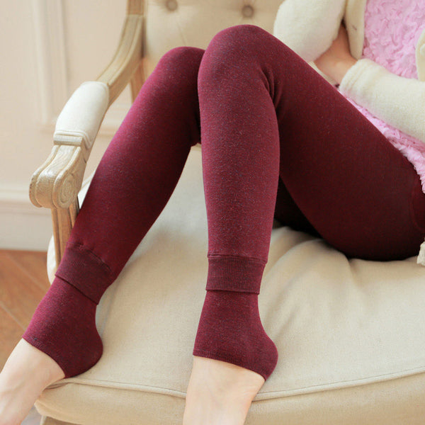 LANGSHA Women Leggings Winter Warm Pants High Waist Slimming Thickening Super Elastic Women's Warm Velvet Body Shaper Leggings