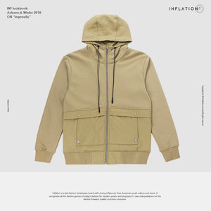 INFLATION FW Basic Series Hip Hop Hoodie Sweatshirt High Quality Hoodie Streetwear Casual Cotton Zip up Hooded For Male 8484WN