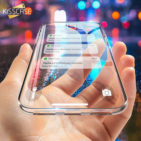 KISSCASE Ultra Thin Soft Silicon Case For iPhone 5 5S Se 5C 4S Cover Clear Case For iPhone X XS Max Xr 6 6S 7 8 Plus Accessories