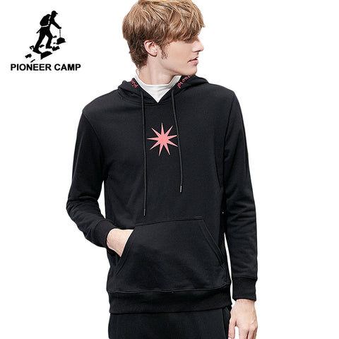 Pioneer camp new hoodies sweatshirt men brand clothing fashion hooded printed mens sweatshirt soft cotton tracksuit  AWY802293