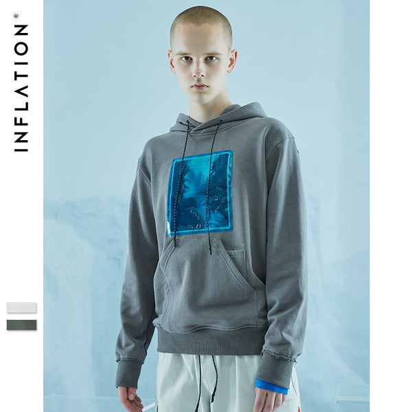 INFLATION FW Basic Series High Quality 2018 New Pullover Cotton Sweatshirts Men Preppy Style Streetwear Hip Hop Hoodies 8621WN