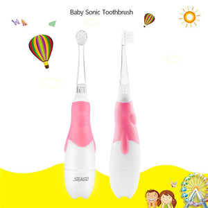Cute Cartoon Children Kids Electric Toothbrush Sonic Timer Teeth Brush Waterproof Soft Bristle Baby Teether Teeth Training Tool