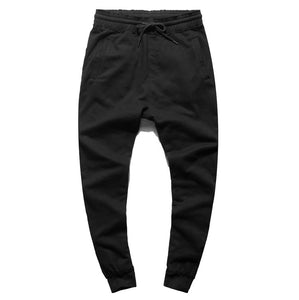 Men Autumn and Winter European Style Washed Burrs New Trousers Men's Sportwear Thread Black Casual Cotton Joggers Pants K1029-2