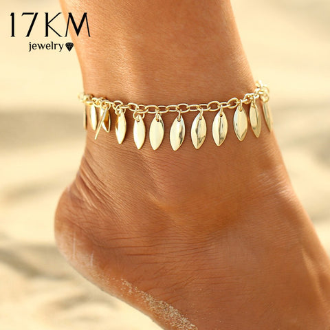2 Style Leaves Beads Anklets For Women - EconomicShopping