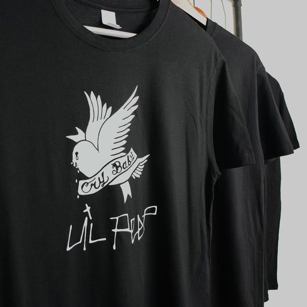 EU Size T Shirt Men Cotton Bird Cry Baby Animal T-shirt Hot Rapper Simple Tshirt Hip Hop Personality Hipster Tops Drop Ship