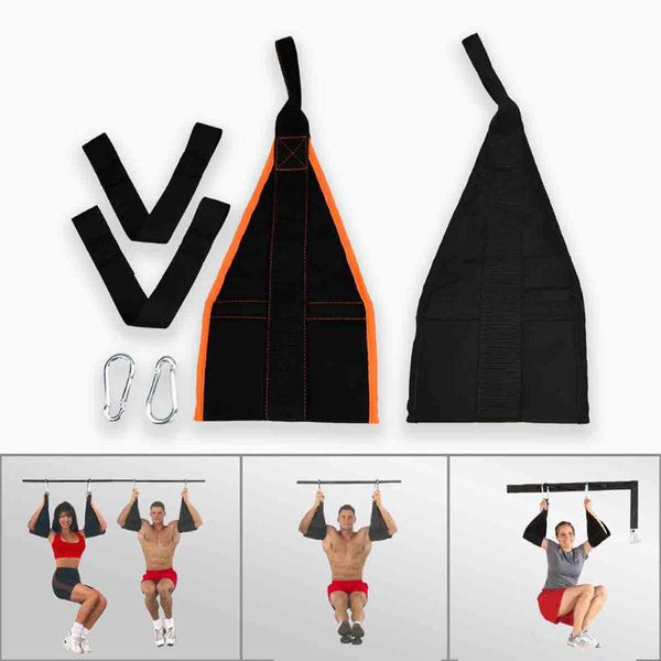 AB Sling Straps Fitness Abdominal Hanging Belt Muscle Training Support Belt Chin Up Sit Up Pullup Exercise Workout Equipment