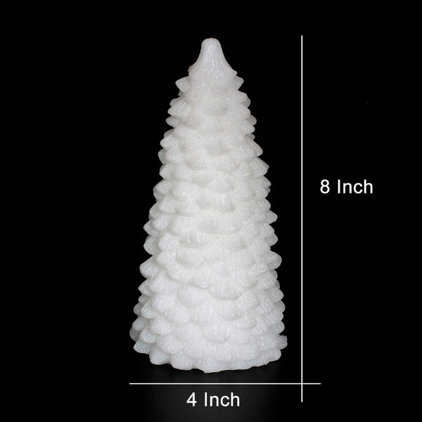Christmas Lighted Pine Tree Flameless Candle with Timer - EconomicShopping