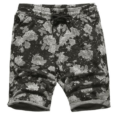 Men's Casual Flower Printed Shorts