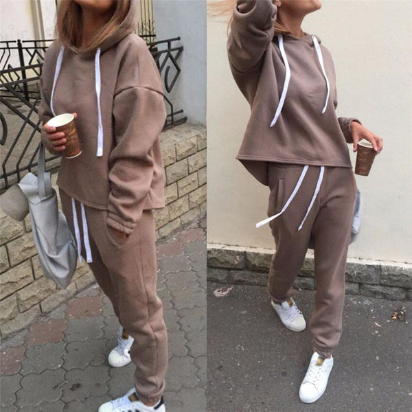 Autumn Tracksuit Long Sleeve Thicken Hooded - EconomicShopping