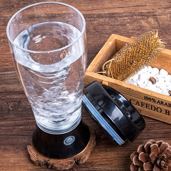 Portable Vortex Electric Protein Shaker Mixer Bottle Detachable Cup