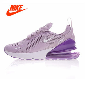 5dde1d9bc4d1de Original New Arrival Authentic Nike Air Max 270 Women s Running Shoes  Sneakers Purple White Shock Absorption