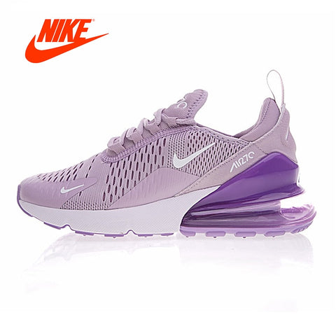 new concept e3998 464f2 Original New Arrival Authentic Nike Air Max 270 Women s Running Shoes  Sneakers Purple White Shock Absorption