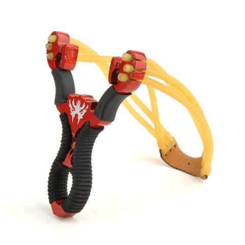 Red Sirius strong alloy slingshot sling bow outdoor hunting shot fish camping travel set boy shooting children classic toys
