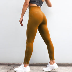 f1c9035276cbb Oyoo Women's Caramel High Waist Yoga Pants Tummy Control Workout Running 4  Way Stretch Sport Leggings