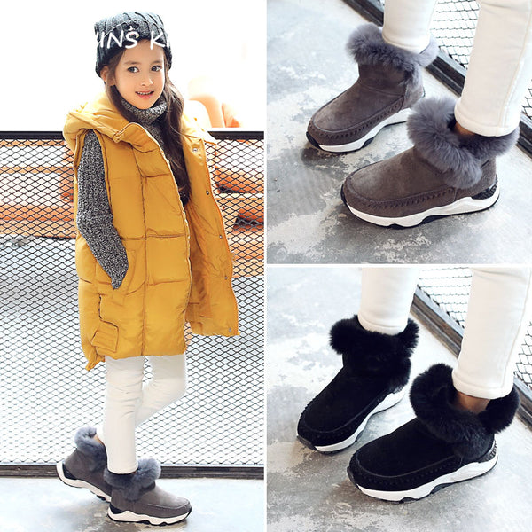 Baby Girl Fashion Real Leather Boot - EconomicShopping