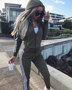 New 2018 2Pcs Women Set Ladies Tracksuit