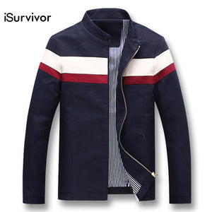 f00c3735f7c iSurvivor 2018 Men Spring Patchwork Jackets and Coats Jaqueta Masculina  Male Casual Fashion Slim Fitted Zipper