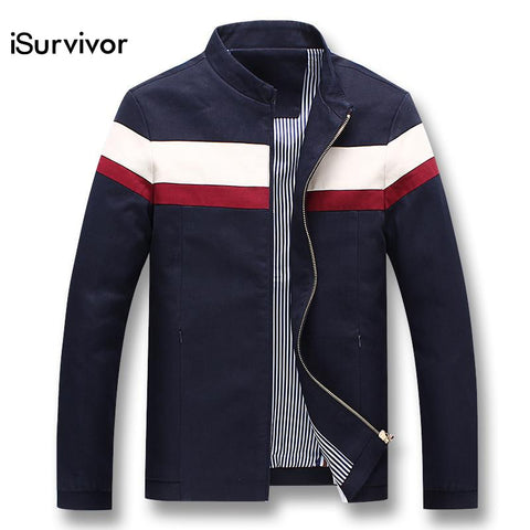 iSurvivor 2018 Men Spring Patchwork Jackets and Coats Jaqueta Masculina Male Casual Fashion Slim Fitted Zipper Jackets Hombre