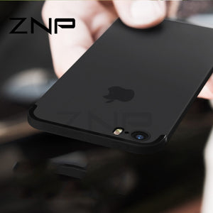 ZNP Luxury Back Matte Soft Silicone TPU Case For iPhone 6 6s 7 Plus 8 Cases Full Cover For iPhone 7 8 Plus 6 6s Phone Case p30