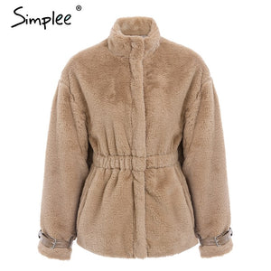 6a28825c8d0 Winter Warm Soft Zipper Fluffy Fur Jacket