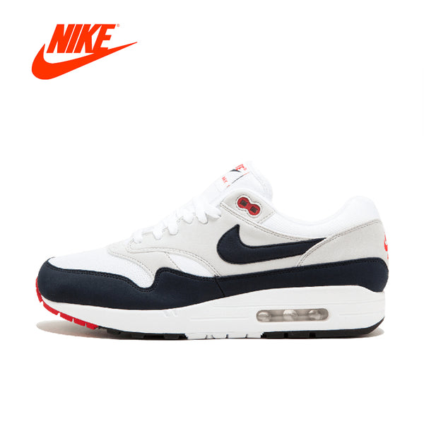 Original New Arrival Authentic Nike AIR MAX 1 ANNIVERSARY Mens Running Shoes Good Quality Sneakers Sport Outdoor 908375-104
