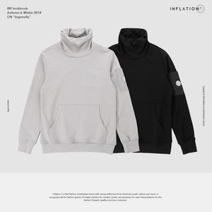 INFLATION FW Basic Series Solid Turtleneck Sweatshirt Men 2018 Winter Male Sweatshirt Cotton Casual Autumn Hoody For Men 8620WN