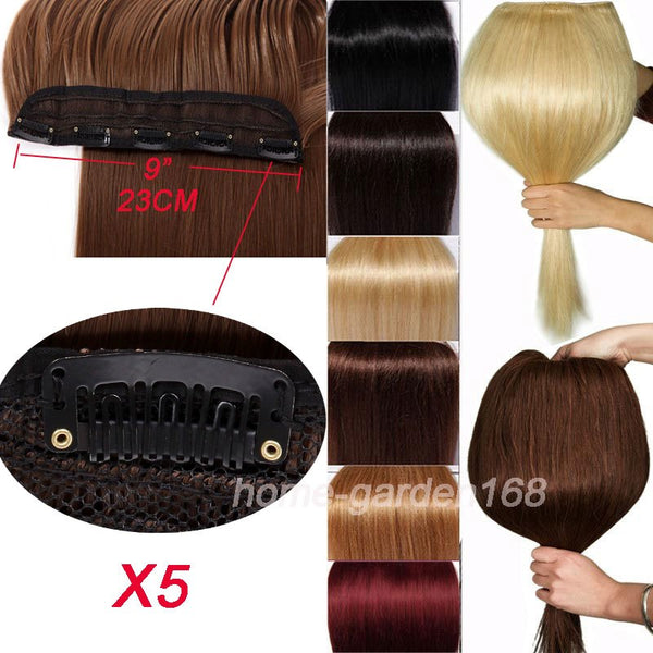 S-noilite 18-30 inches Clip in Hair Extensions 3/4 Full Head 5 Clips Hair Extention Synthetic Real Natural Hairpiece