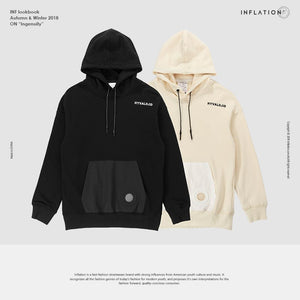 INFLATION FW Basic Series High Quality 2018 Autumn Brand Male Long Sleeve Pocket Hooded Sweatshirt Mens Fashion Hoodie 8615WN