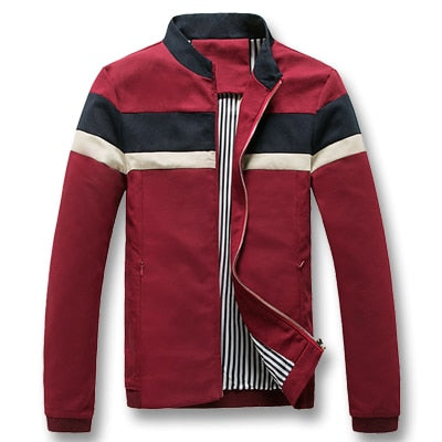 Men Spring Patchwork Jacket