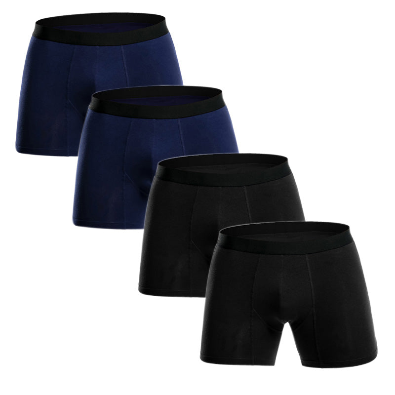 4Pcs/lot Men Boxers Long Underwear Cotton - EconomicShopping