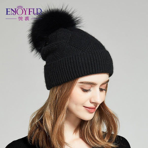 Winter Hats For Women Natural Fur