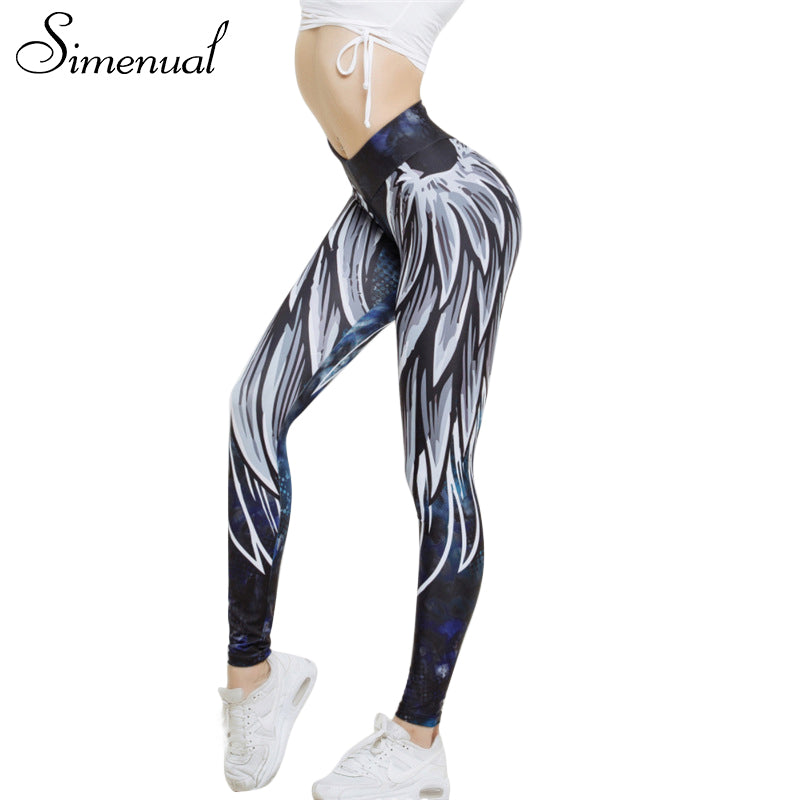Wing Pattern Yoga Pants