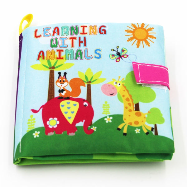 4 Style Baby Toys Soft Cloth Books Rustle Sound Infant Educational Stroller Rattle Toy Newborn Crib Bed Baby Toys 0-36 Months - EconomicShopping