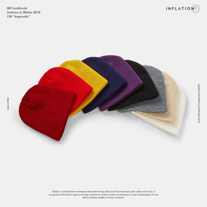 INFLATION Solid Skullies & Beanies Men Unisex Warm Baggy Cap for Girls Wool Sport Hat Street Hip hop Ins Winter Hat 128CI2018