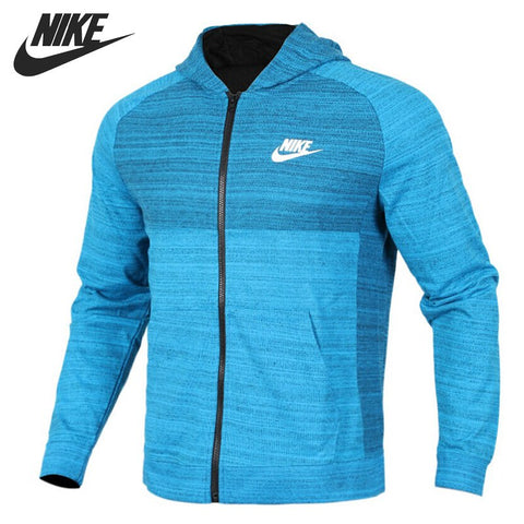 Original New Arrival  NIKE NSW HOODIE FZ AV15 KNIT Men's Jacket Hooded Sportswear