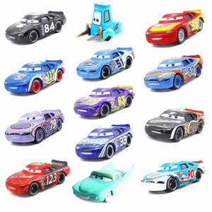 Disney Pixar Cars 3 2 Toys Guido Flo Chick Hicks Sally Jackson Storm Mater 1:55 Diecast Metal Alloy Model Cars Kid Gift Boy Toy