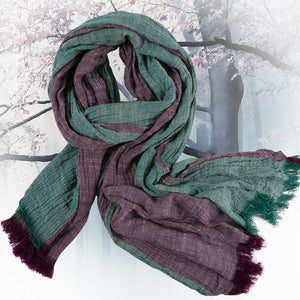 Cotton Linen Color Scarf for Men and Women - EconomicShopping