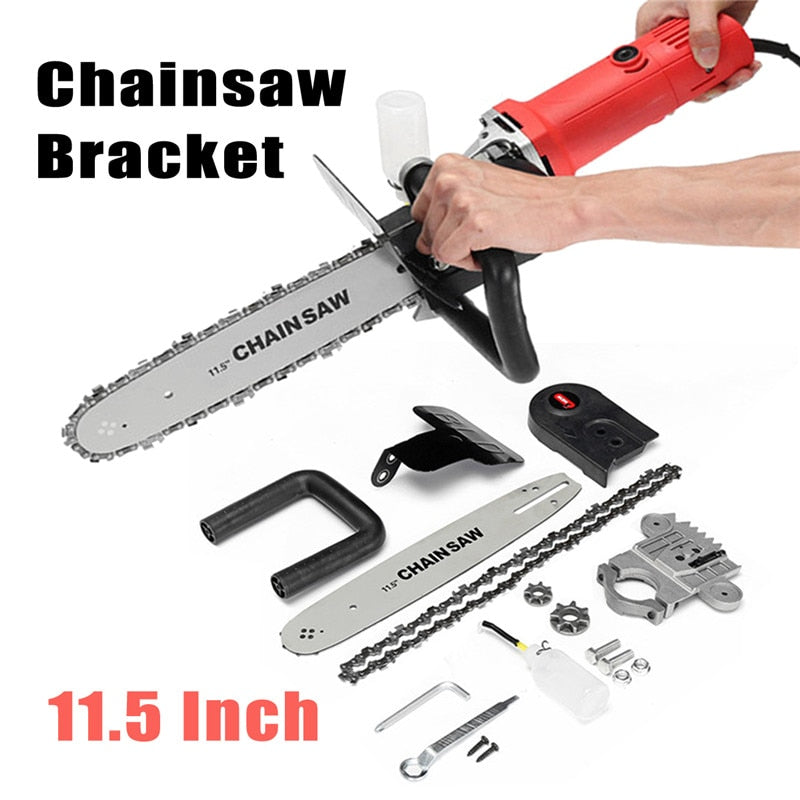 11.5 Inch Chainsaw Bracket Changed 100 125 150 Electric Angle Grinder M10/M14 Into Chain Saw Woodworking Power Tool - EconomicShopping