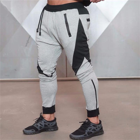 Gray Jogging Pants Striped Running Pants Men Sport Pencil Pants Men Cotton Soft Bodybuilding Joggers Gym Trousers Running Tights