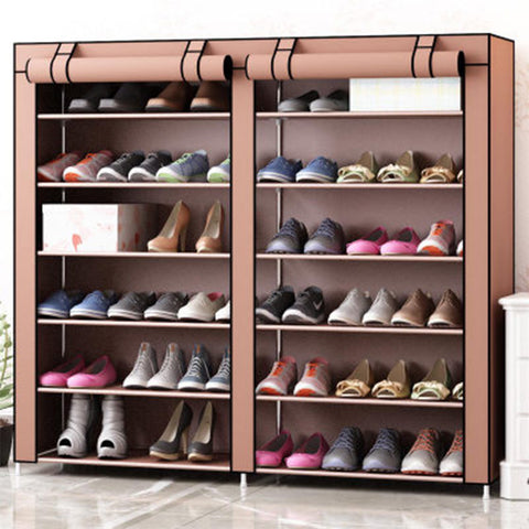 Double row 12 mesh Shoe cabinet simple furniture home storage large capacity saving space Rack Moisture proof bedroom shoe shelf