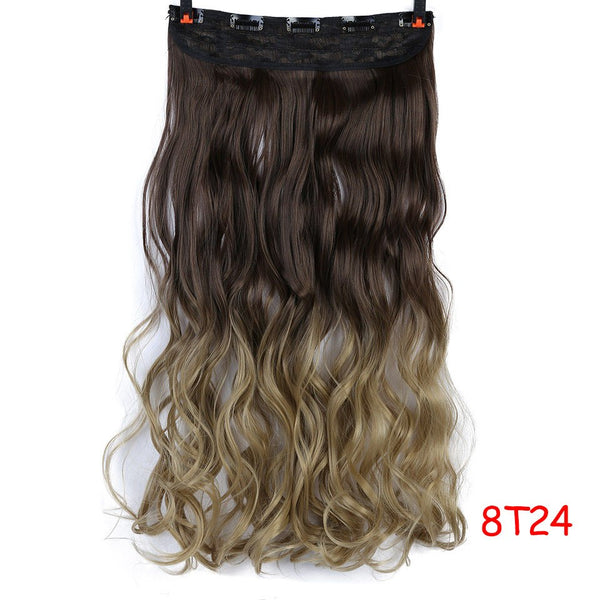 "24"" Curly 3/4 Full Head Clip in Hair Extensions"