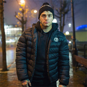 YEMEKE Winter Men Jacket 2018 New Brand High Quality black navy blu Warmth Mens Jackets and Coats Thick Fashion Men Outwear XXL