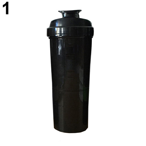 3 in 1 Gym Body Building Water Bottle Protein Powder Mixer Shaker with Mesh Grid - EconomicShopping