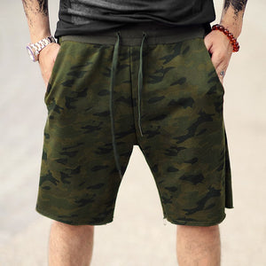 Summer Wear New Arrival Men's Cotton Casual Camouflage Shorts Men Military Army Green Elasticed Waist Brand Fashion Beach Shorts