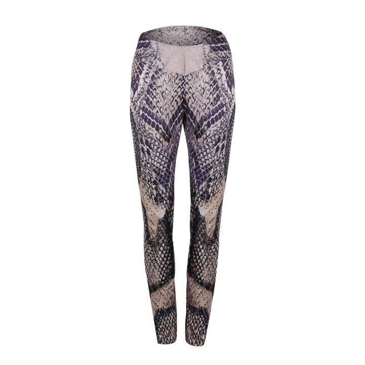 Ankle-Length Pants Snake Skin Push Up Keep Slim Women Legging - EconomicShopping