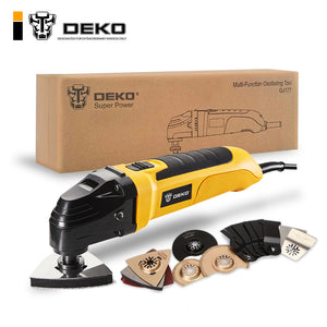 DEKO 220V Variable Speed Electric Multifunction Oscillating Tool Kit Multi-Tool Power Tool Electric Trimmer Saw w/ Accessories - EconomicShopping