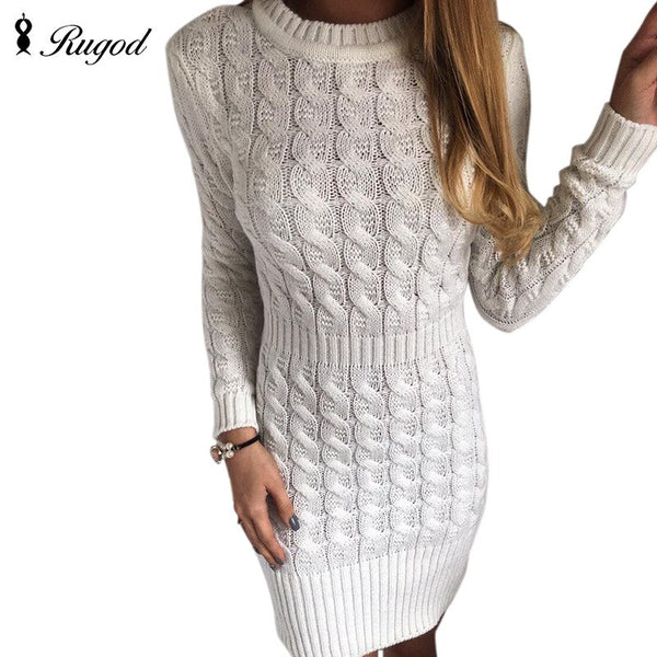 Autumn Winter Knitted Dress - EconomicShopping