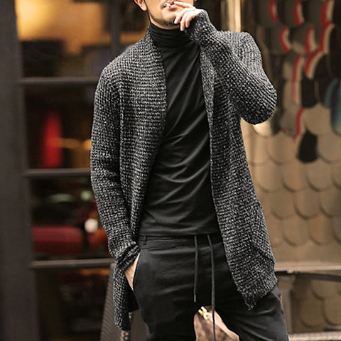 Mens Sweater Long Sleeve Cardigan - EconomicShopping