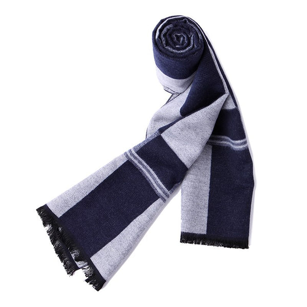 Pioneer camp new arrival soft scarf men warm autumn winter plaid fashion scarves male knitted scarf gentleman thick AWJ701398A