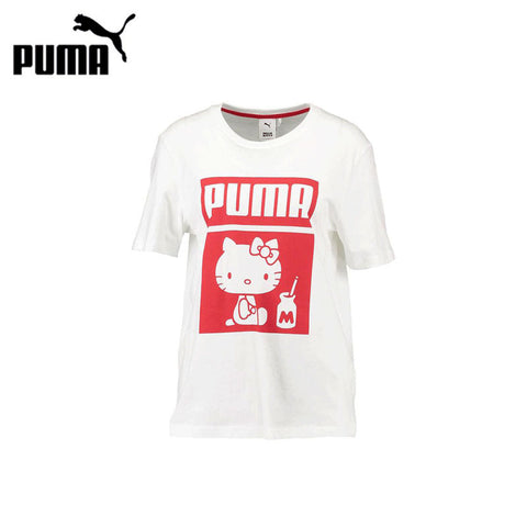 Original PUMA T-shirts for Women Hello Kitty Short Sleeve Sportswear Breathable Comfortable Outdoor Sports Clothes Shirts 576730